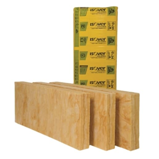 Isover Cavity Wall Slab 34, 1200 x 455 x 75mm Pack of 10