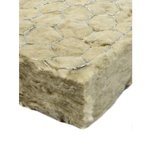 Rockwool Fire Barrier (Wire and Foil Sides) 3500 x 1000 x 60mm