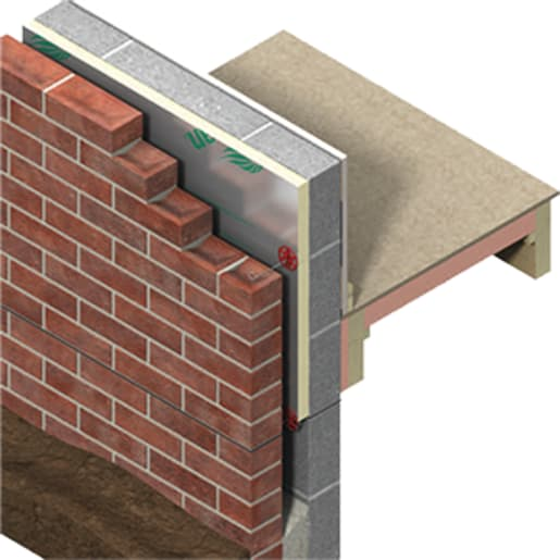 Kingspan TW50 Thermawall Cavity Board 1200 x 450 x 50mm Pack of 10