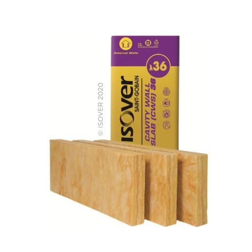 Isover Cavity Wall Slab 36, 1200 x 455 x 100mm