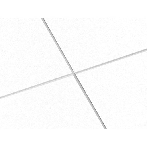 Ecophon Focus Ds Ceiling Tile 1200 x 600 x 20mm Box of 10 White Frost