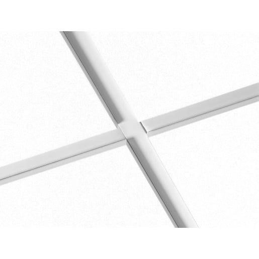 Ecophon Focus ET24 Ceiling Tile 600 x 600 x 20mm Box of 20 White Frost